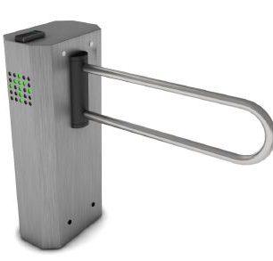 ALC 8000 Puerta de discapacitados motorizada, cuerpo 100% en acero inoxidable, apertura sin ningún tipo de contacto