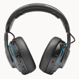 JBLQUANTUMONEBLKAM  JBL Headphones Quantum QOne Gaming QuantumSphere 360 ANC LED