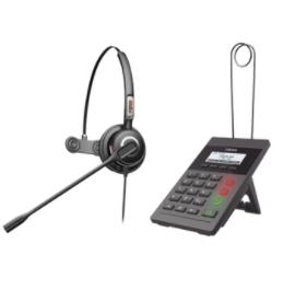 KIT-X2CP Kit Fanvil para Call Center incluye teléfono IP X2CP Y diadema HT201 y fuente de alimentación.