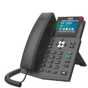 X3U Teléfono IP Empresarial con Estándares Europeos, 6 lineas SIP con pantalla LCD a color, puertos Gigabit, IPv6, Opus y conferencia de 3 vías, PoE/DC (incluye fuente)