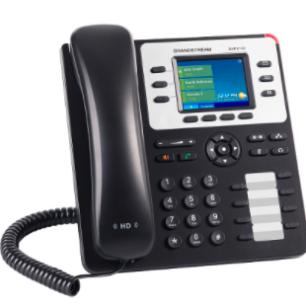 GXP-2130 Teléfono IP Empresarial de 3 Líneas con 4 teclas de función, 8 teclas de extensión BLF y conferencia de 4 vías. PoE