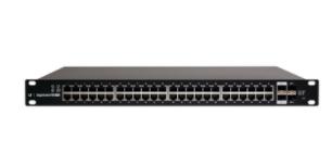 ES-48-750W Switch EdgeMAX Administrable de 48 Puertos Gigabit con PoE+/PoE Pasivo 24V + 2 Puertos SFP + 2 Puertos SFP+, 750 W
