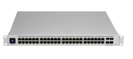 USW-PRO-48-POE UniFi Switch Gen2, Capa 3 de 48 puertos PoE 802.3at/bt + 4 puertos 1/10G SFP+, 600W