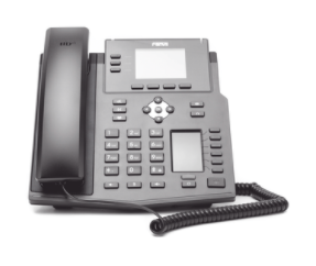 X4U Teléfono IP Empresarial con Estándares Europeos, 12 lineas SIP con pantalla a color, 30 teclas DSS/BLF, puertos Gigabit, IPv6, Opus y conferencia de 3 vías, PoE/DC (incluye fuente).