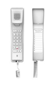 H2U-W Teléfono IP profesional para Hotelería, montaje en pared, teclado numérico estándar, conferencia de 3 vías, Opus y PoE.