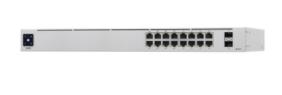 USW-16-POE UniFi Switch Gen2, Capa 2 de 16 puertos (8 puertos PoE 802.3af/at + 8 puertos Gigabit) + 2 puertos 1G SFP, 42W