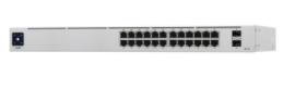 USW-24-POE UniFi Switch Gen2, Capa 2 de 24 puertos (16 puertos PoE 802.3af/at + 8 puertos Gigabit) + 2 puertos 1G SFP, 95W,