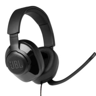 JBLQUANTUM200BLKAM  JBL Headphones Quantum Q200 Gaming Flip up Mic Black S.Ame