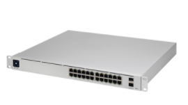 USW-PRO-24-POE UniFi Switch Gen2, Capa 3 de 24 puertos PoE 802.3at/bt + 2 puertos 1/10G SFP+, 400W
