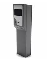 ALC-LECT TIQ Consola Lectora de Tickets Uso Interior. Mueble en CR, incluye: Lector de Código de barras pantalla a color 11″, chip de voz, computador embebido. Opcional cubierta para uso exterior
