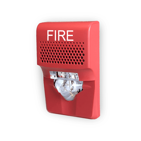 G1AVRF Sirena-Estrobo de muro Rojo